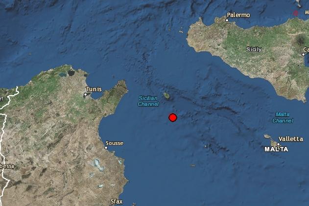 10.01.2016: Erdbeben im Mittelmeer östlich von Nabeul (M3.9)