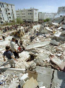 Zerstörungen in Boumerdes, Algerien