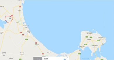 Erdbeben Oudhref, Gouvernorat Gabès am 29.01.2018