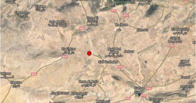 Erdbeben bei Moulares, Gafsa am 2. Februar 2018
