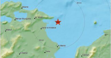 Erdbeben bei Ghar el Melh, Bizerté (M4,7)