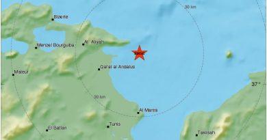 Erdbeben bei Ghar el Milh, Tunis, 08.03.2018