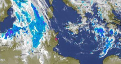 Wetterwarnung für Tunesien ab Samstagnachmittag, 24. März bis Sonntag, 25. März 2018
