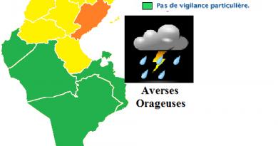 Wetterwarnung für die Mitte und den Südosten Tunesiens (Sfax) ab Mo., den 26.03.2018, 14 Uhr