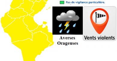 Wetterwarnung für Tunesien und den Nordwesten Tunesiens ab So., den 08.04.2018, 5 Uhr