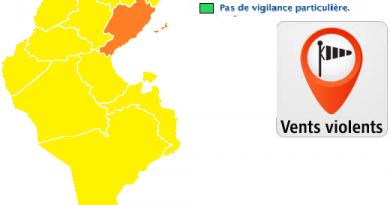 Wetterwarnung für die Mitte und den Süden Tunesiens ab Di, den 10.04.2018, 14 Uhr