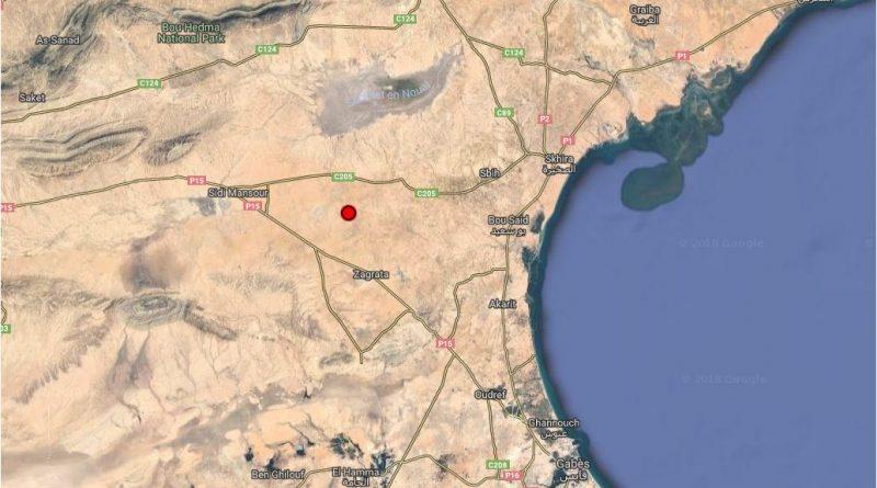 Erdbeben der Stärke 4,9 bei Menzel El Habib im Gouvernorat Gabés