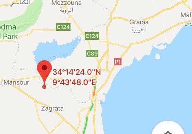 Gabès: Leichtes Erdbeben (M3,62) bei Menzel El Habib