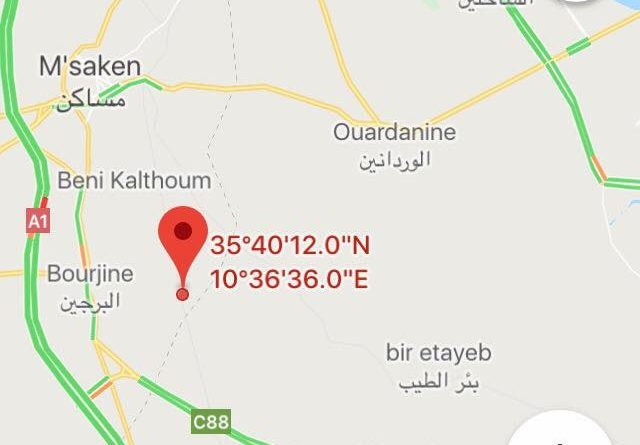 Leichtes Erdbeben (M3,4) im Süden der Stadt Sousse
