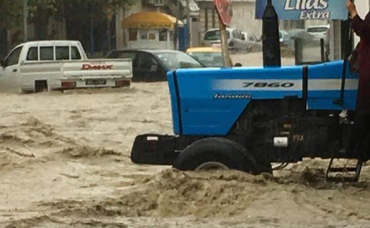 Überflutungen Bizerté - Niederschlagsmengen Tunesien: Fr., 24.08.2018, 7 Uhr bis Sa., 25.08.2018, 7 Uhr