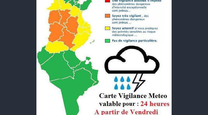 Warnung vor Gewittern und Starkregen in der Mitte Tunesiens ab Fr., 03. Aug 2018, 16 Uhr