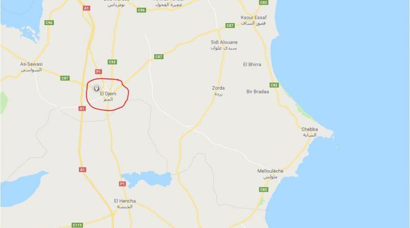 Leichtes Erdbeben bei El Djem im Gouvernorat Mahdia (M2,73)