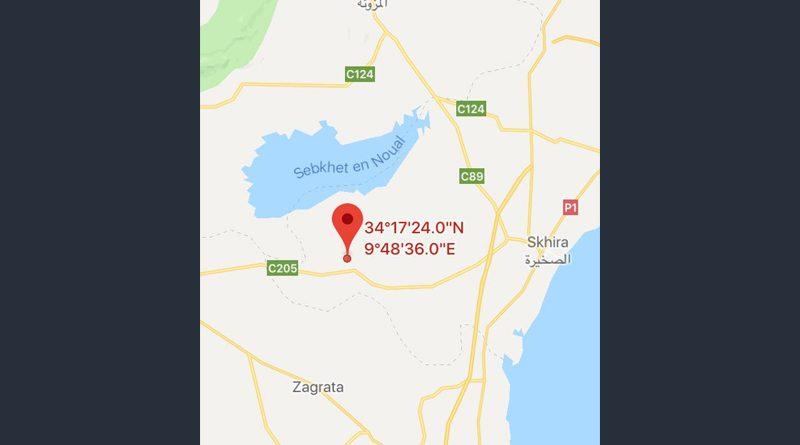 Leichtes Erdbeben (M3,19) bei Mazzouna, Sidi Bouzid
