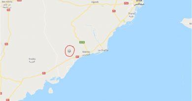 Leichtes Erdbeben bei Mahres südwestlich von Sfax (M3,5)