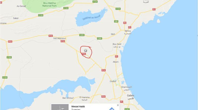 Leichtes Erdbeben in der Region El Khbayet, Gabes (M3,12)