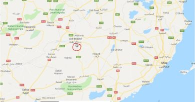 Leichtes Erdbeben (M2,76) bei Souk Jedid, Gouvernorat Sidi Bouzid