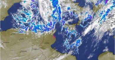 Niederschlagsmengen Tunesien: Fr, 1. Dez 2017 bis Sa, 2. Dez 2017