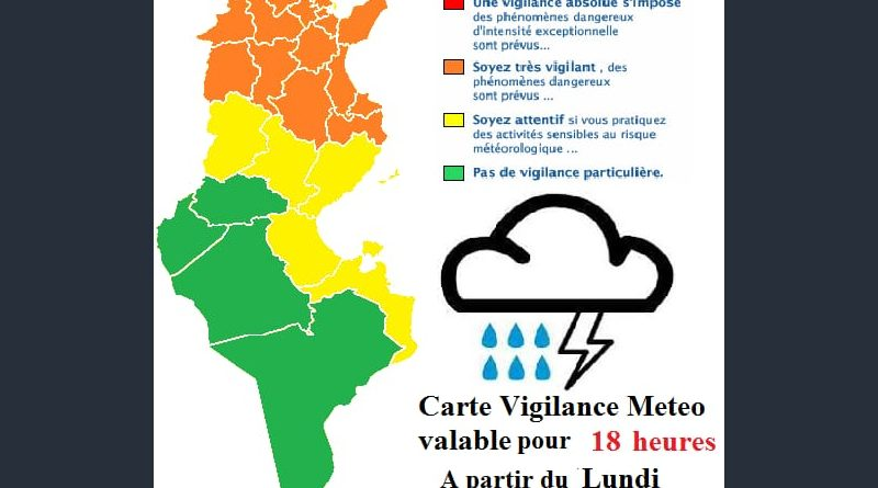 Warnung vor Starkregen und Temperaturrückgang ab dem kommenden Abend, 21 Uhr (01.10.2018)