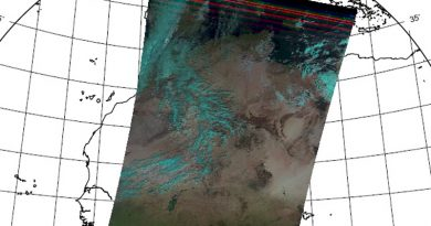 Erstes Bild des neuen Wettersatelliten Metop-C: AVHRR von Eumetsat
