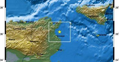 Zwei Erdbeben im Golf von Hammamet vor Sousse