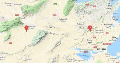 Leichtes Erdbeben bei Kasserine (M3,7)