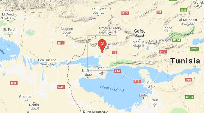 Tunesien: Leichtes Erdbeben bei Redeyef im Gouvernorat Gafsa (M3,08)
