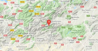 Leichtes Erdbeben bei Ghardimaoui im Gouvernorat Jendouba (M3,04)