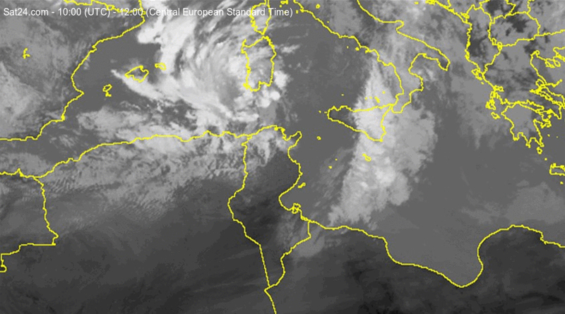 Satellitenbild vom 7. April 2019, 12 Uhr