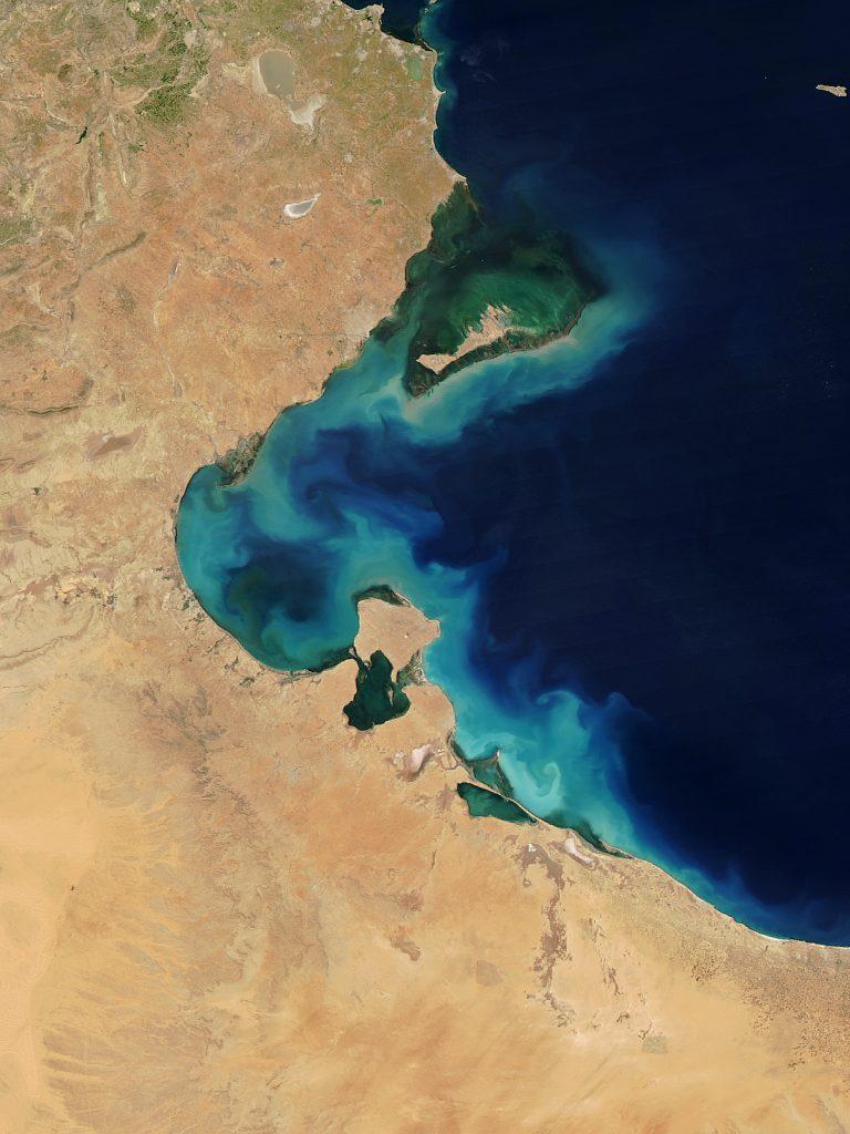 Phytoplanktonblüte im Golf von Gabés - Foto NASA