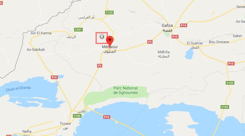 Leichtes Erdbeben bei Métlaoui im Gouvernorat Gafsa (M2,7)