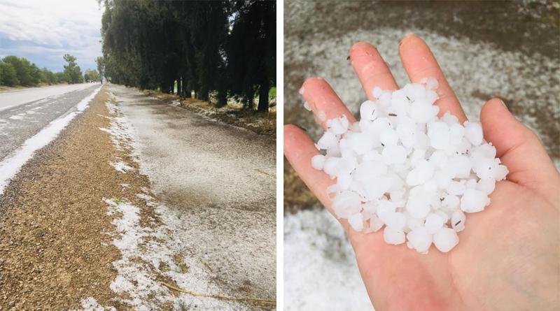 Hagelstürme im Gouvernorat Jendouba - Die Niederschlagsmengen 22./23. Mai 2019