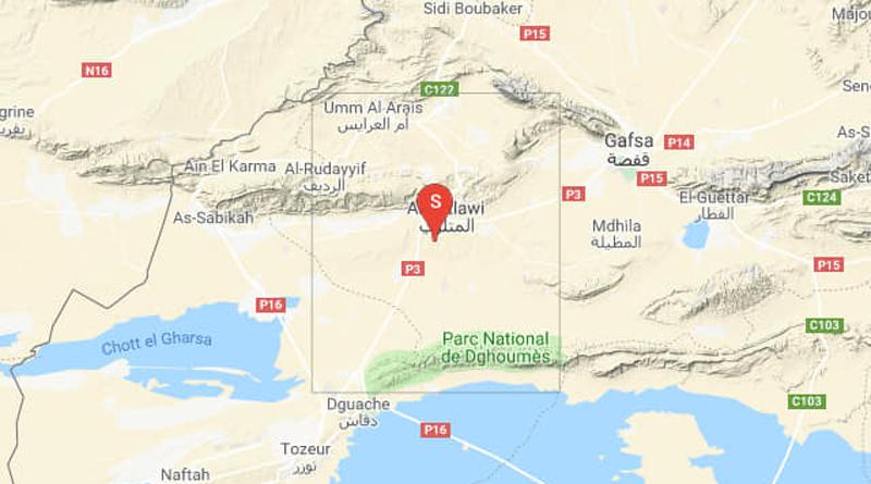 Zweites Erdbeben bei Métlaoui im Gouvernorat Gafsa (M3,19)