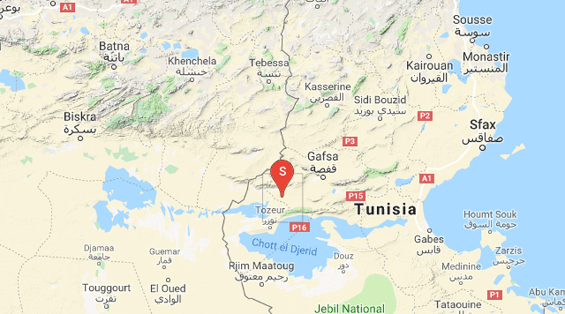 Spürbares Erdbeben bei Métlaoui im Gouvernorat Gafsa (M4,1)