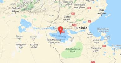 Leichtes Erdbeben im Chott El Jerid im Gouvernorat Tozeur (M 3.20)