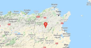 Erneutes leichtes Erdbeben westlich von Siliana (M 3.24)
