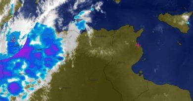 Radarbild vom 26. August 2019, 19.40 Uhr tunesischer Zeit