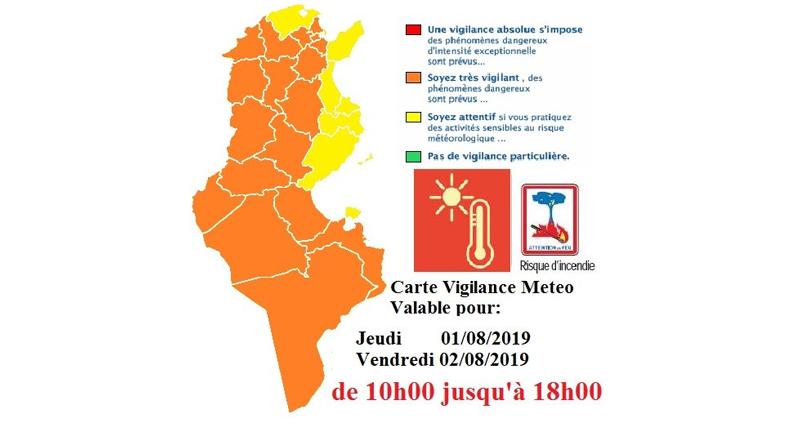Warnung vor Hitze und erhöhter Waldbrandgefahr am Donnerstag und Freitag (1./2. August 2019)