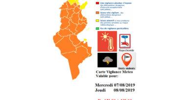 Warnung vor Hitze, Waldbrandgefahr, Starkwind und Gewittern am Mittwoch und Donnerstag (7./8. August 2019)