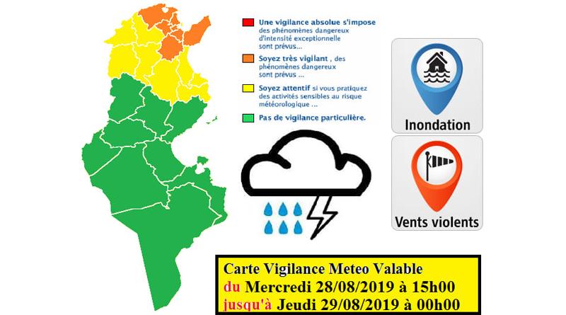 Warnung vor markantem Wetter mit starkem Regen, Gewitter und Hagel im Norden und der Mitte