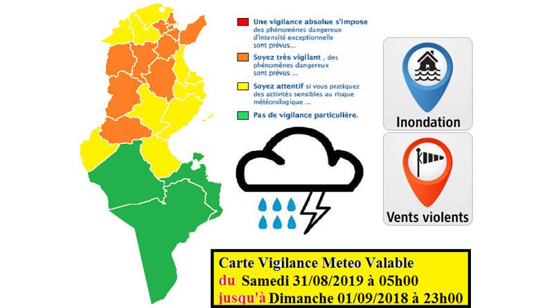 Warnung vor Starkregen und möglichen Überflutungen ab der Nacht zum Samstag (31.08.2019)