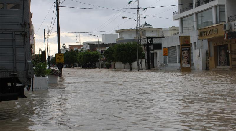 Niederschlagsmengen Tunesien: So., 08.09.2019, 7 Uhr – Mo., 09.09.2019, 7 Uhr - Bild: Überflutungen in Akouda