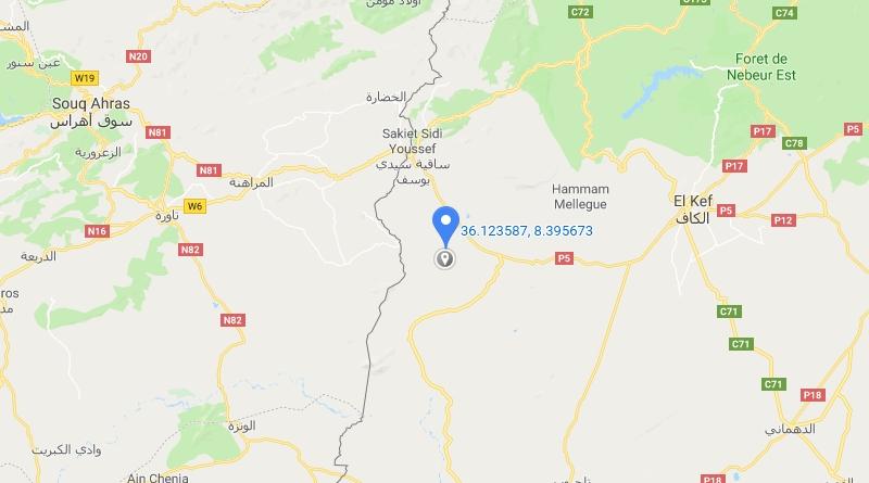 Erdbeben bei Sakiet Sidi Youssef im Gouvernorat Kef