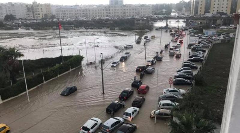 Überflutungen in Tunis Nord