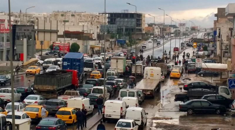 Überflutungen und Verkehrschaos in Tunis