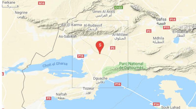 Erdbeben nahe Degueche im Gouvernorat Tozeur (M 3.93)