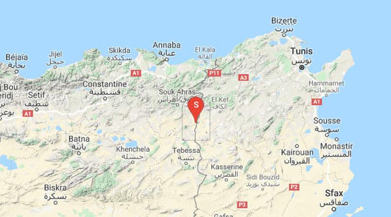 Tunesien: Erdbeben südlich von Sakiet Sidi Youssef im Gouvernorat Kef (M 3.48)