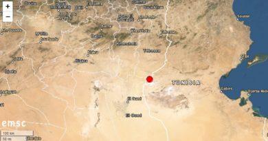 Tunesien: Erdbeben westlich von Gafsa im tunesisch-algerischen Grenzgebiet (M 4.5)