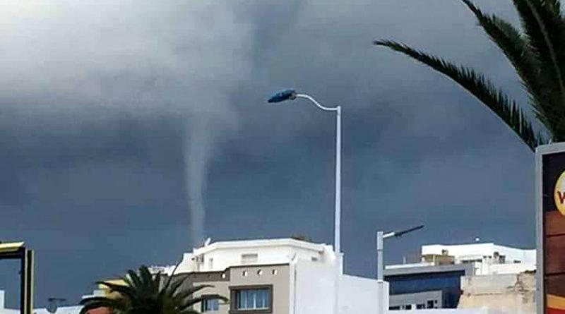Windhose in Monastir - Titelbild: Monastir News