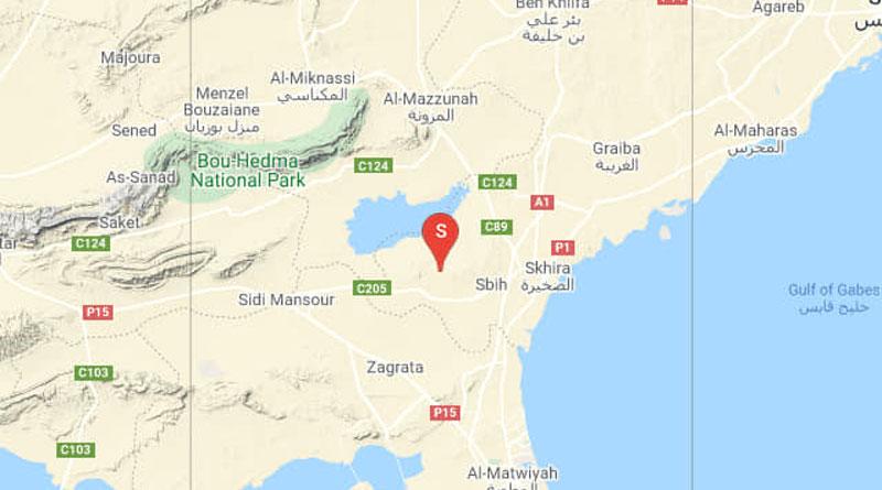 Tunesien: Erdbeben westlich von Skhira im Gouvernorat Sfax (M 3.00)