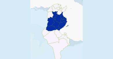 Niederschlagsmengen Tunesien: Di., 9 Juni – Mi., 10 Juni 2020, 7 Uhr